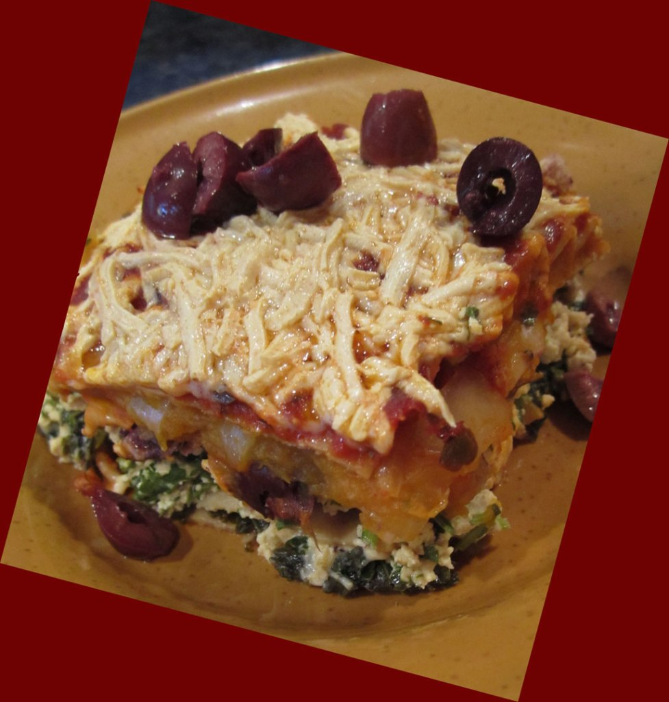 Pumpkin-Kalamata-Olive-Lasagna