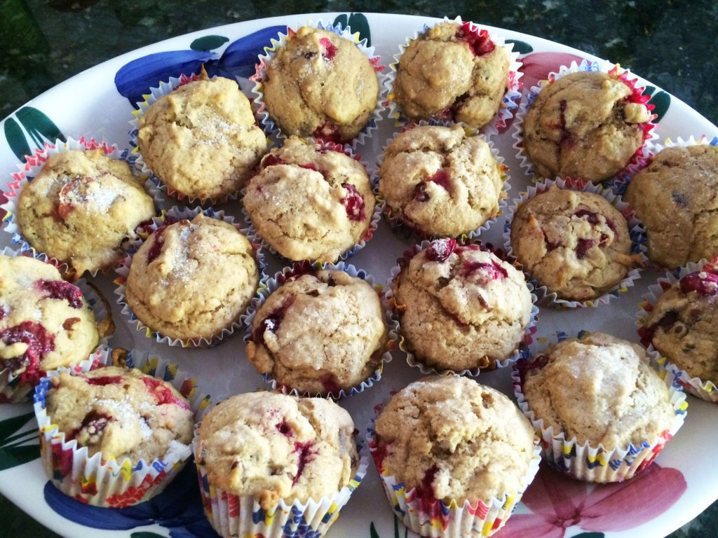 cranberry-pecan-muffins
