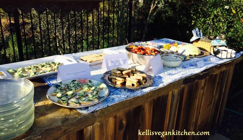 Vegan Baby Shower Buffet